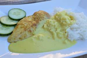 Kyckling med currysås
