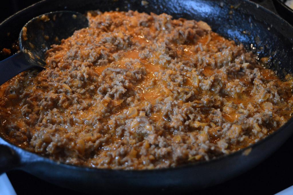 Crepes med köttfärs 2