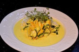 Currytorsk i ugn med sqush
