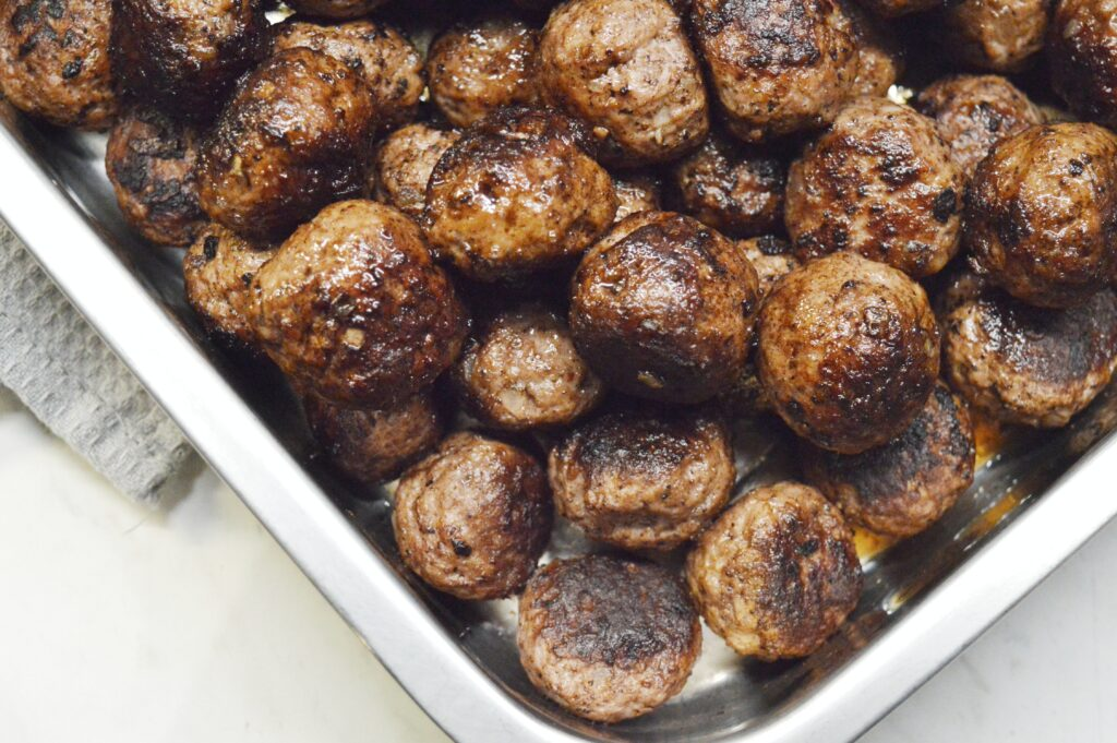 eftersteka köttbullar i ugn