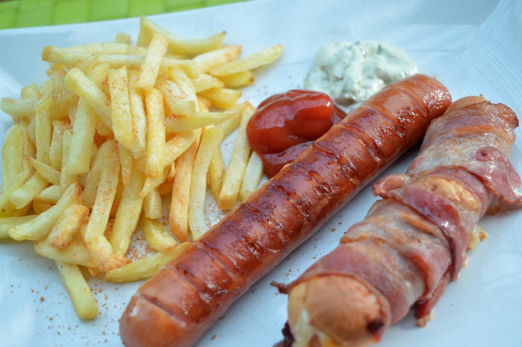 Baconlindade korvbröd med mjukost 5