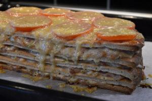 Varm smörgåstårta med bacon