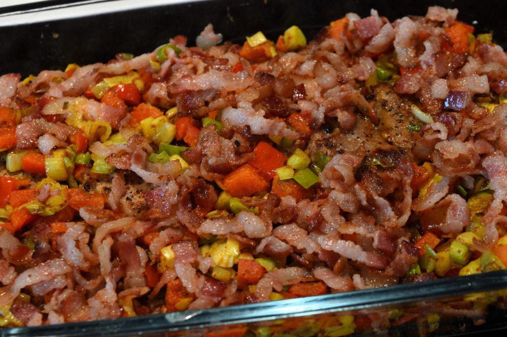 Fläskfilégratäng med paprika & bacon 2