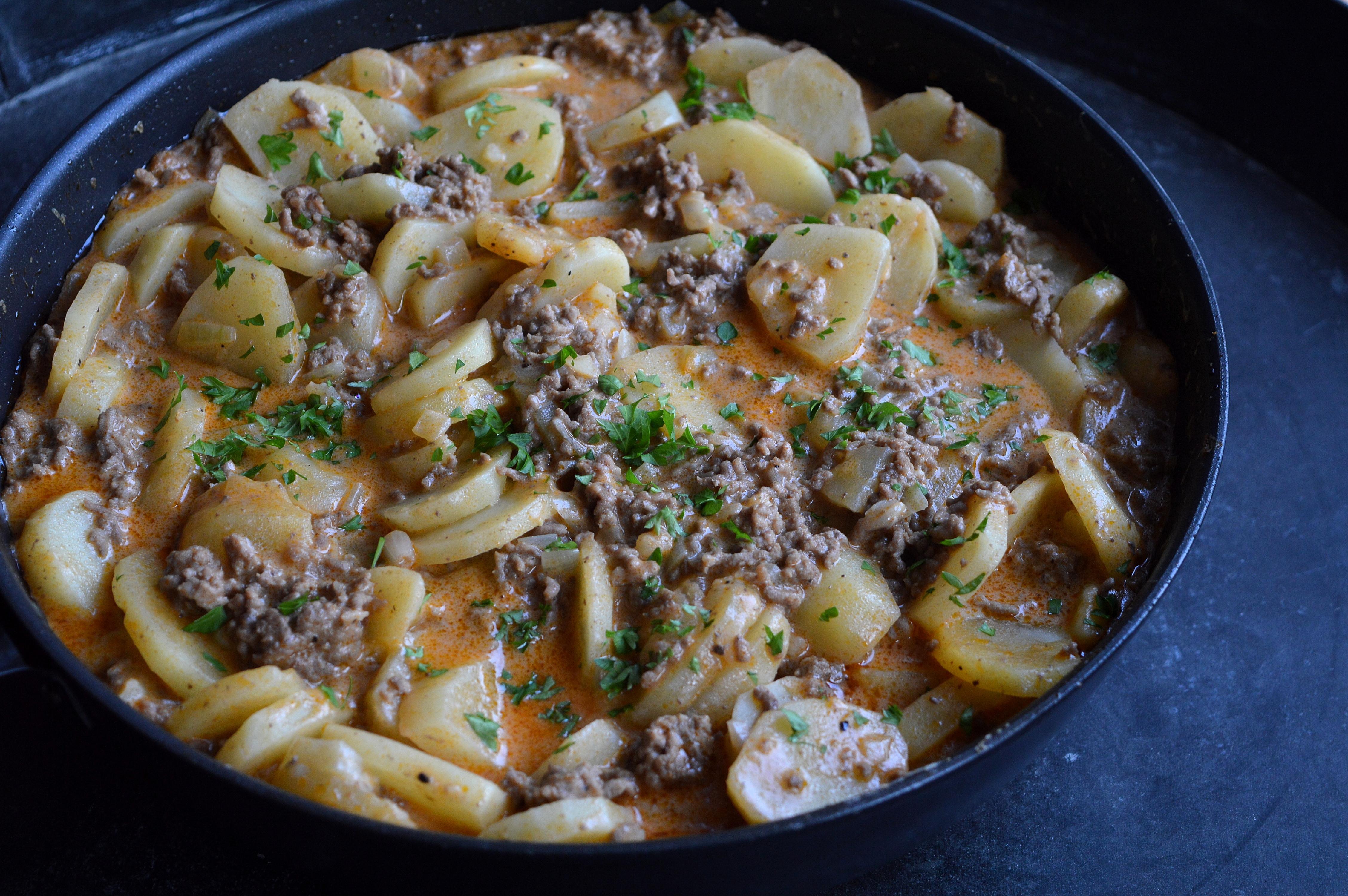 recept med köttfärs och potatis